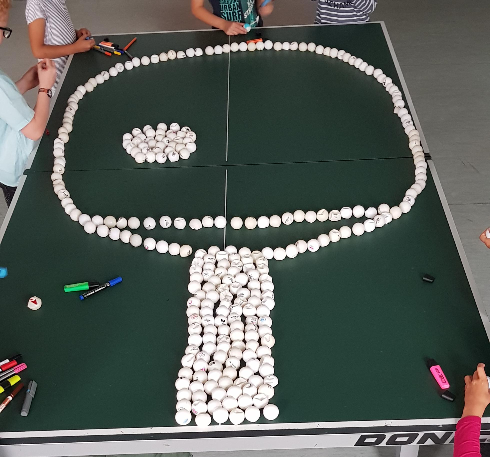 Kinder der Tischtennis-AG